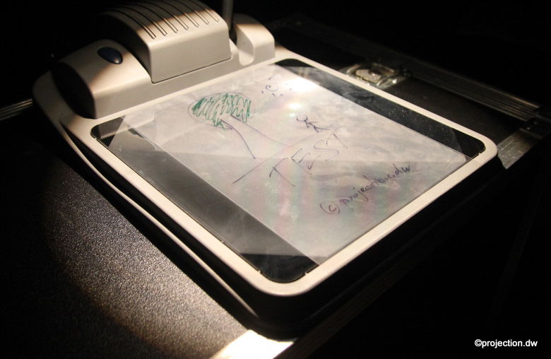 Nobo quantum 2523t mobiler overhead projektor ohp for Lampen quantum